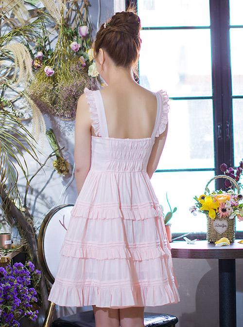 Pink Cute Flounced Sweet Lolita Sleeveless Dress