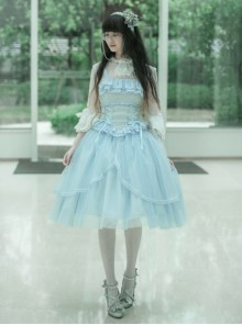 Ballet Series Soft Blue Classic Lolita Sling Dress