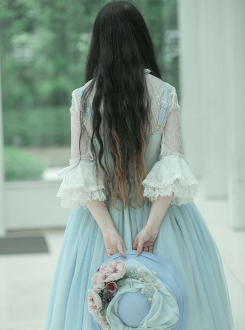 Ballet Series Soft Blue Classic Lolita Sling Dress