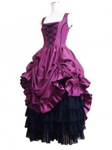 Gorgeous Retro Gothic Lolita Prom Sling Dress