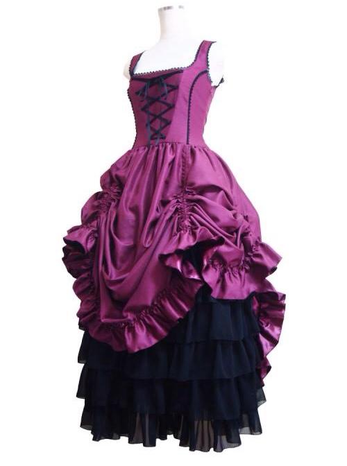 Gorgeous Retro Gothic Lolita Prom Sling Dress