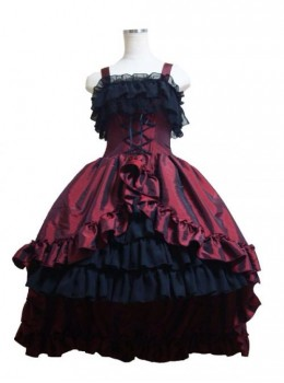 Gorgeous Lace Bind Strap Gothic Lolita Sling Dress