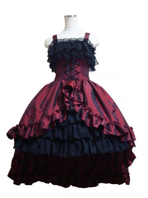 Gorgeous Lace Bind Strap Gothic Lolita Sling Dress