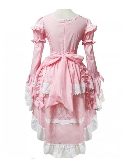 Cute Lace And Bowknot Sweet Lolita Long Sleeve Dress