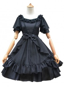 Organza High Waist Short Sleeves Classic Lolita Dress