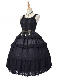 Dangerous Liaisons Series Chiffon Retro Gothic Lolita Short Sleeve Dress