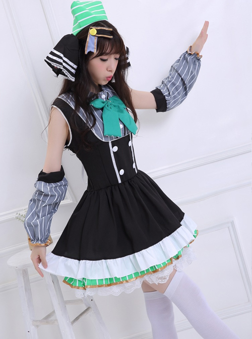 LOVE LIVE! Ayase Eli Cosplay Costume Sweet Lolita Sleeveless Dress