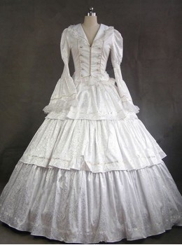 Victorian Style Gothic Lolita Prom Long Sleeve Dress