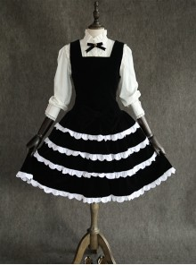 Black Velvet Classic Lolita Sleeveless Dress