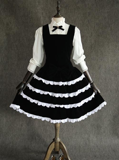 Black Velvet Classic Lolita Sleeveless Dress