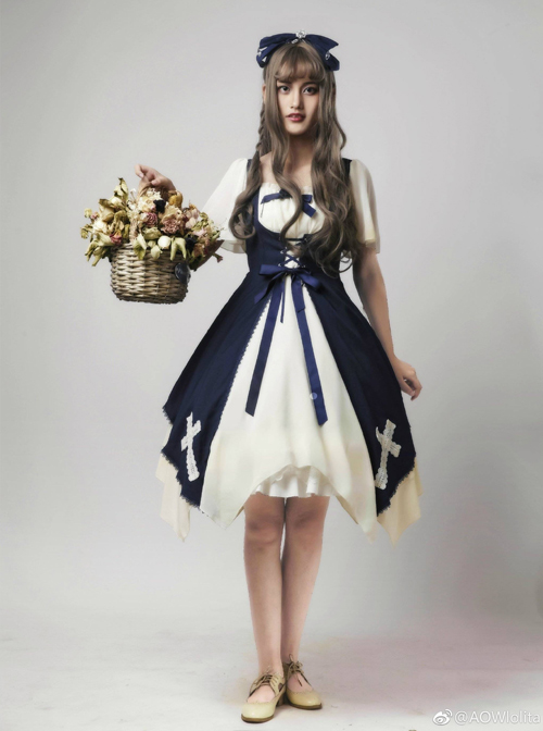 Aria Series Short Sleeve Gothic Lolita Dress
