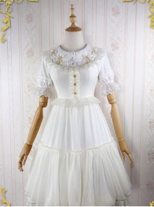 Iridescent Sugar's Dream Series Ruffles Sweet Lolita Flying Sleeve Dress