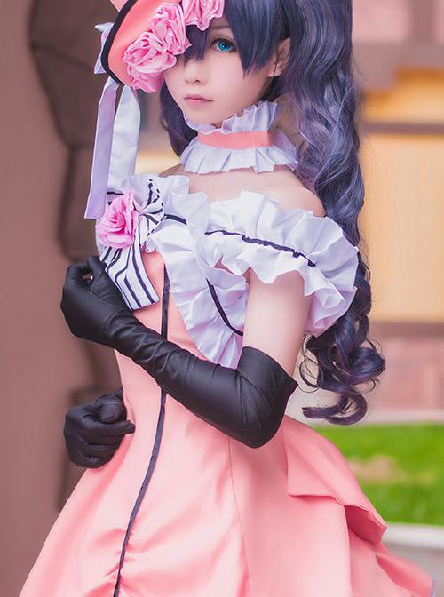 Black Butler Ciel Phantomhive Cosplay Costume Lolita Pink Dress