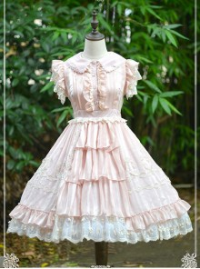 Pure Color Chiffon Lace Classic Lolita Sleeveless Dress