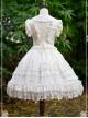 Pure Color Chiffon Lace Classic Lolita Sleeveless Dress