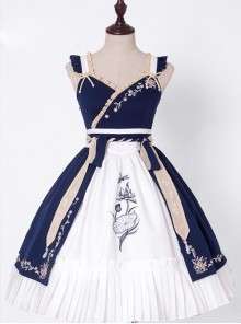 Pear Flowers And Lotus Flowers Series Chinese Style Qi Lolita Sling Dress