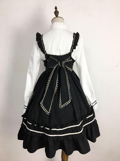 Wine Red Elegant Bowknot Classic Lolita Sling Dress