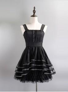 Sexy High Waist Gothic Lolita Sling Dress