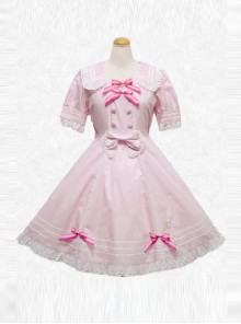 Summer's Big Miss Series Pink Short Sleeve Classic Lolita Dress