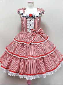 Striped Ocean Series Classic Lolita Sleeveless Dress