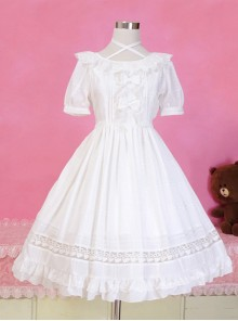 Pure Color Short Sleeves Classic Lolita Dress