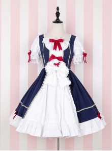Snow White Luxuriant Version Sweet Classic Lolita Short Sleeve Dress
