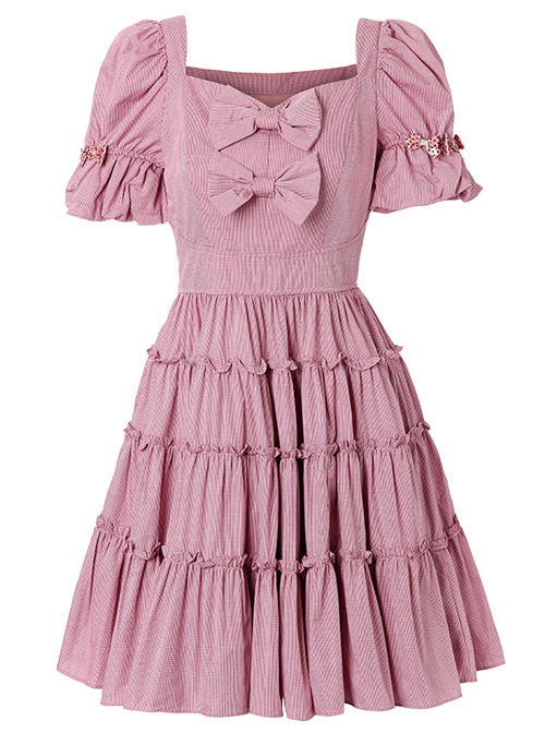 Retro Short Sleeves High Waist Classic Lolita Dress