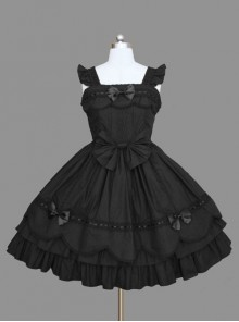 Pure Cotton Bowknot Sweet Lolita Sleeveless Dress