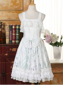 Autumn Whispers Series Bowknot Cotton Classic Lolita Dress