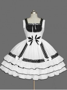 Cotton Gorgeous Bowknot Sweet Lolita Sleeveless Dress