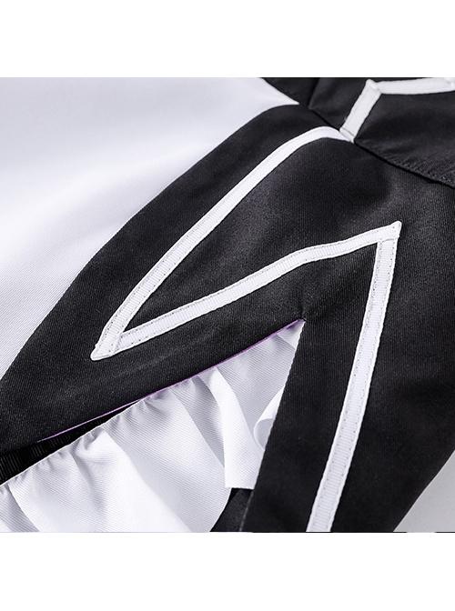 Black Cosplay Maid Costume Sweet Lolita Dress