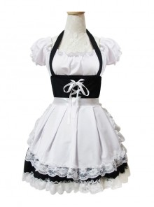 Lace-up Sweet Lace Maid Costume