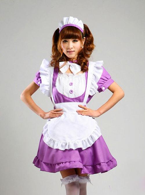 Short Sleeve Maid Costume Sweet Lolita