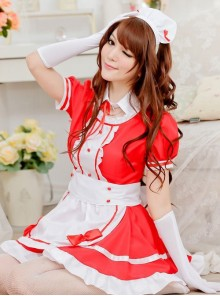 Short Sleeves Cute Maid Cosplay Costume