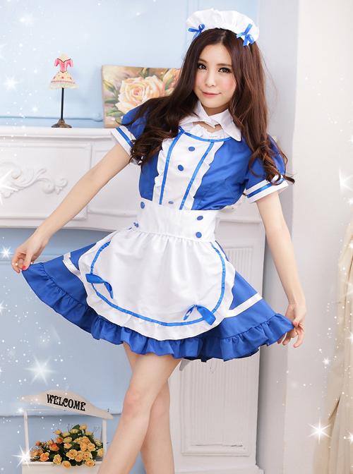 Short Sleeves Cute Maid Cosplay Costume