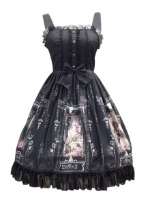 Old Castle Elves Series Retro Lace Classic Lolita Sling Dress
