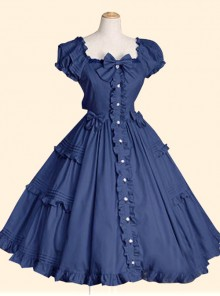 Elegant Short Sleeve Ruffles Classic Lolita Dress
