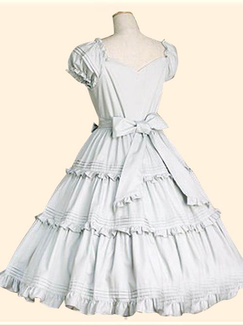 Elegant Short Sleeve Ruffles Classic Lolita Dress