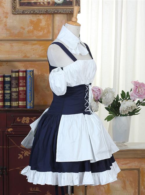 Chobits Cosplay Costume Classic Lolita Dress Set
