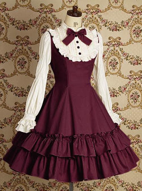 Long Sleeves Ruffle Elegant School Lolita Dress