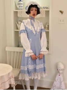 Sky Blue Long Sleeve Classic Lolita Dress