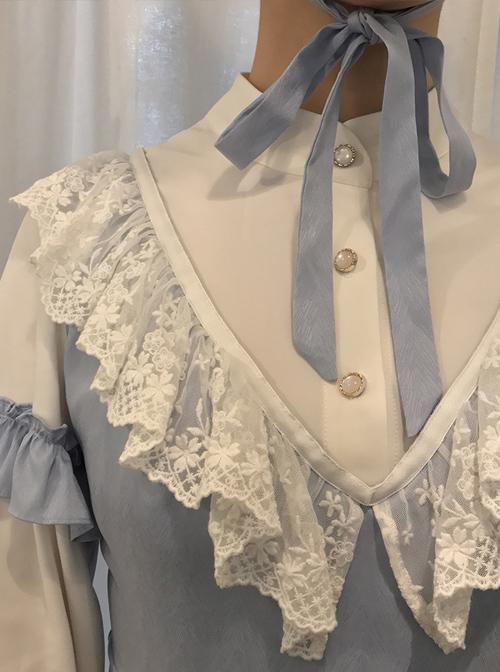 Sky Blue Long Sleeve Classic Lolita Dress