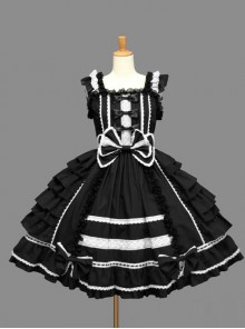 Sleeveless Bind Straps Lace Cute Sweet Lolita Dress