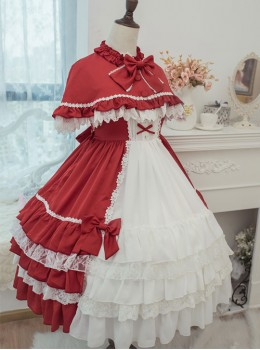 Elegant Bowknot Multi-storey Classic Lolita Sleeveless Dress