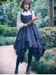 Stripes Sleeveless Bind Strap Gothic Lolita Irregular Hem Dress