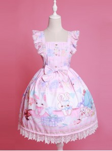 Cute Sleeveless Bows Chiffon Sweet Lolita Dress