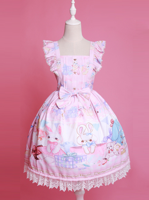 Cute Sleeveless Bows Chiffon Sweet Lolita Dress