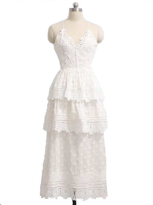 Cotton Backless Sexy Gothic Lolita Sling Dress