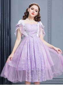 Purple Short Sleeves Lace Dream Classic Lolita Dress