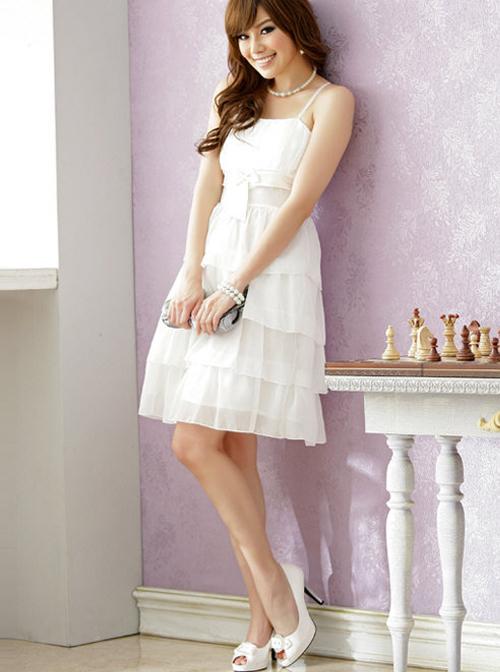 Chiffon Bowknot Elegant Classic Lolita Sling Dress